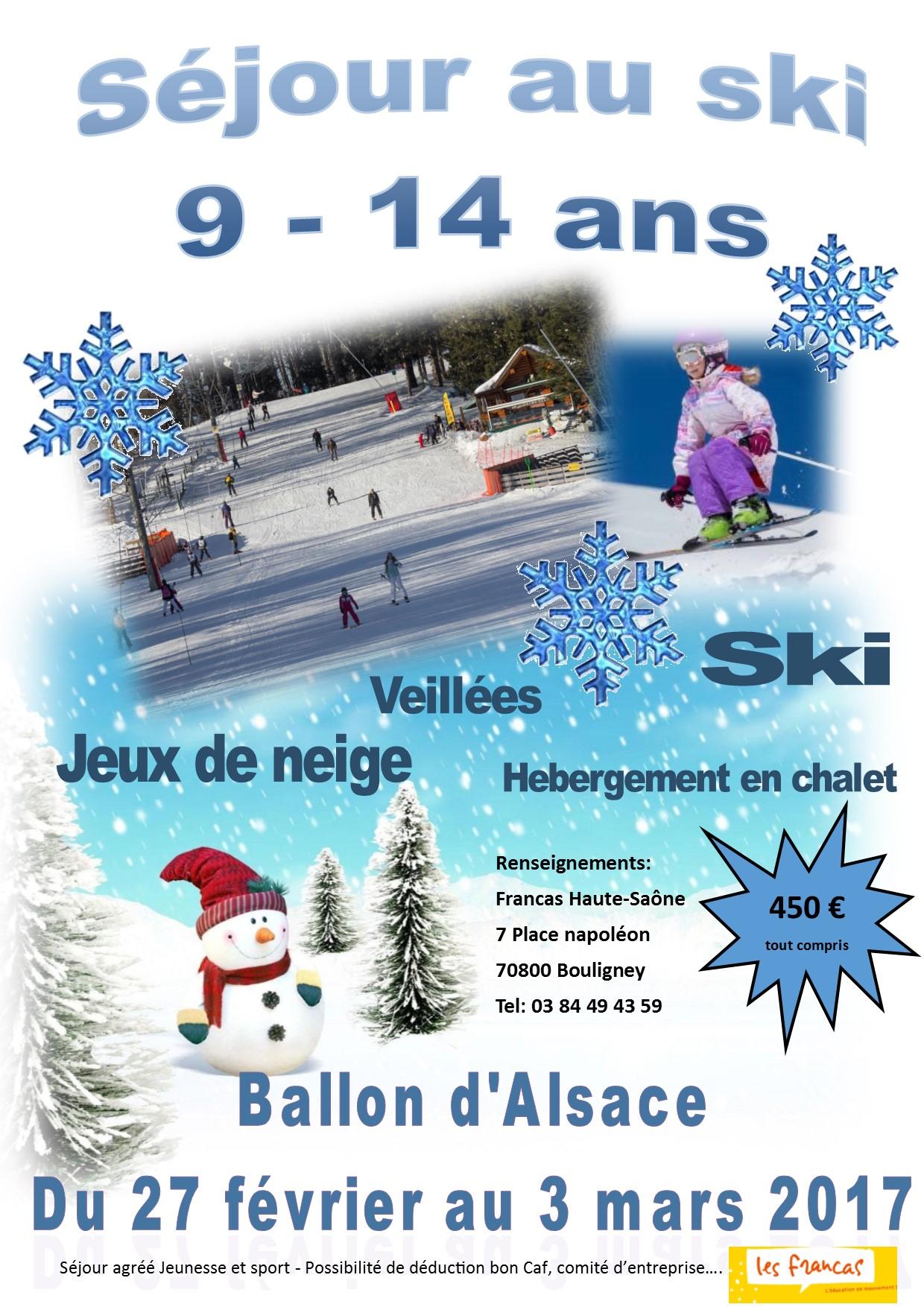 Camp ski au Ballon d'Alsace